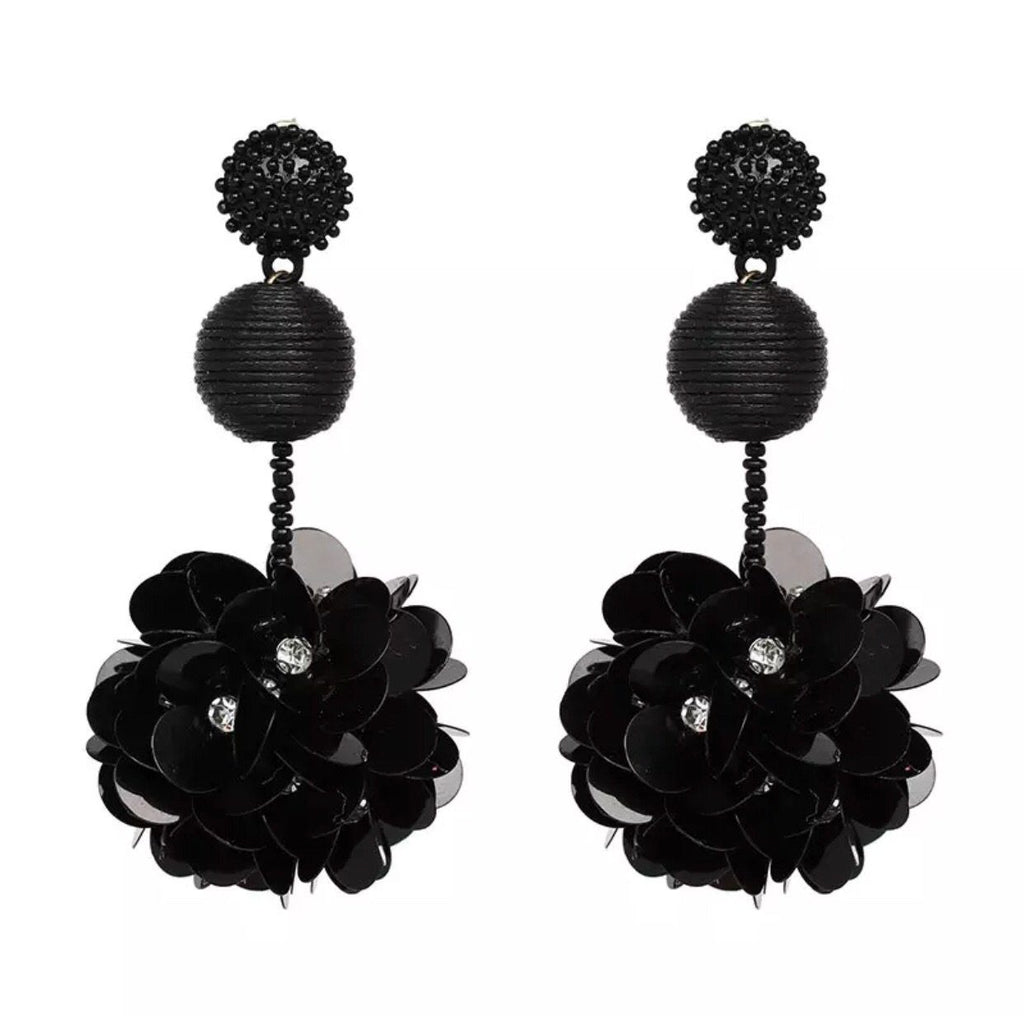 Wildest Dreams Earrings: Black - Bella and Bloom Boutique