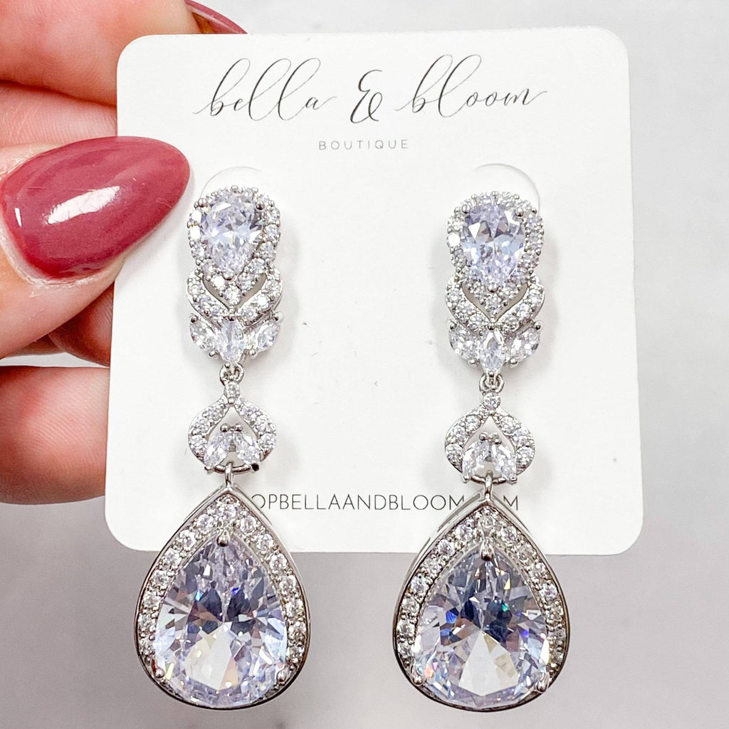 Marry Me Earrings: Silver - Bella and Bloom Boutique