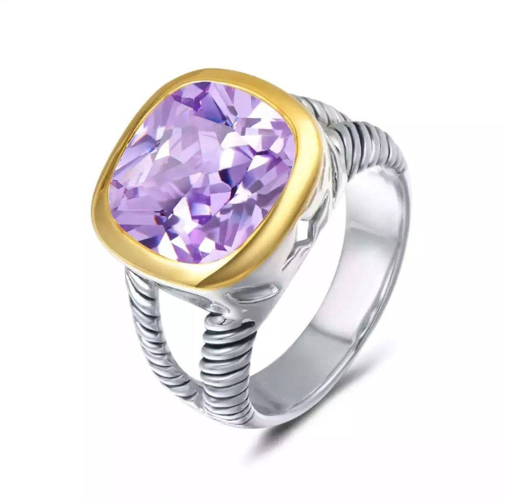 Bella Ring: Amethyst - Bella and Bloom Boutique