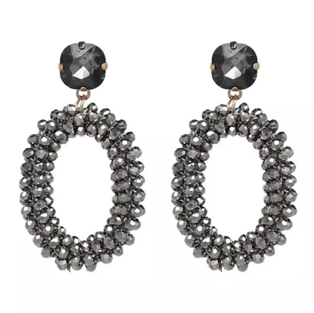 Shimmer in the Night Earrings: Gunmetal - Bella and Bloom Boutique