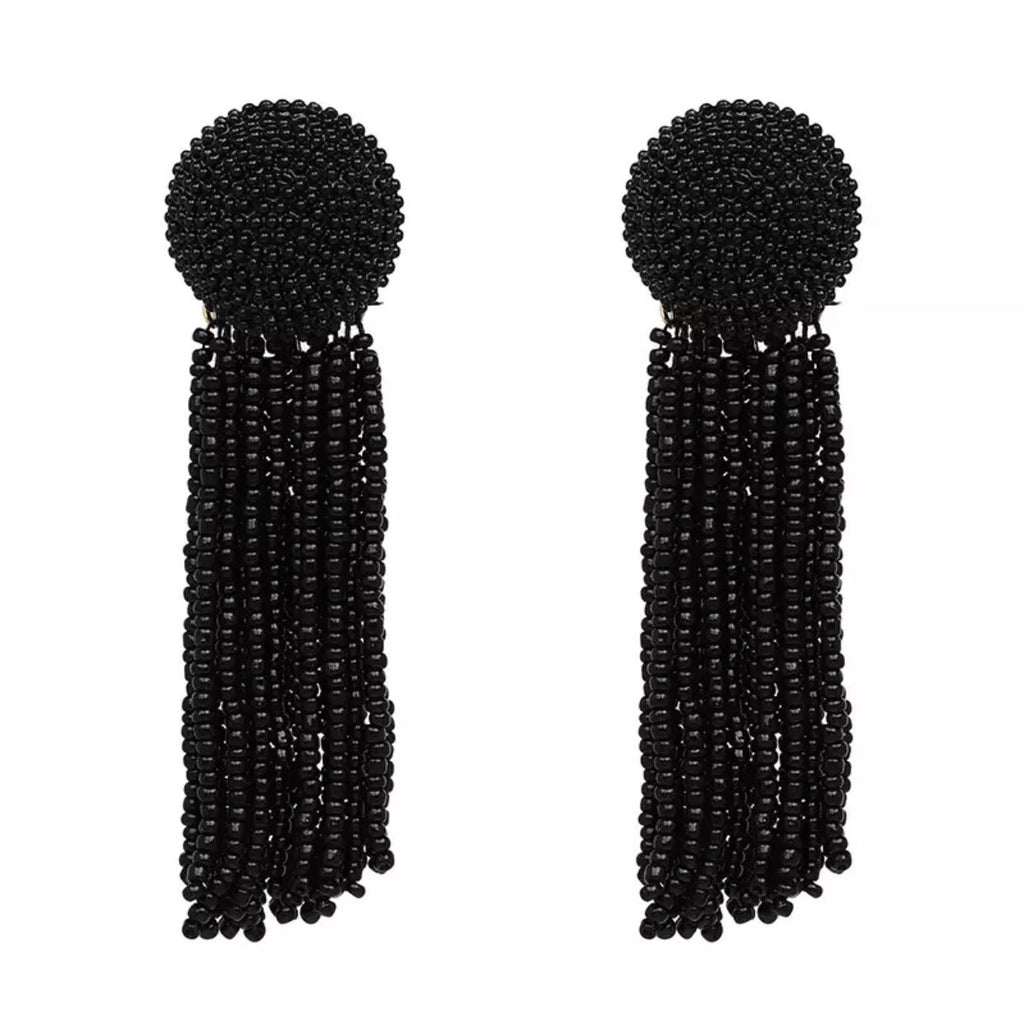 Beads of Love Earrings: Black - Bella and Bloom Boutique