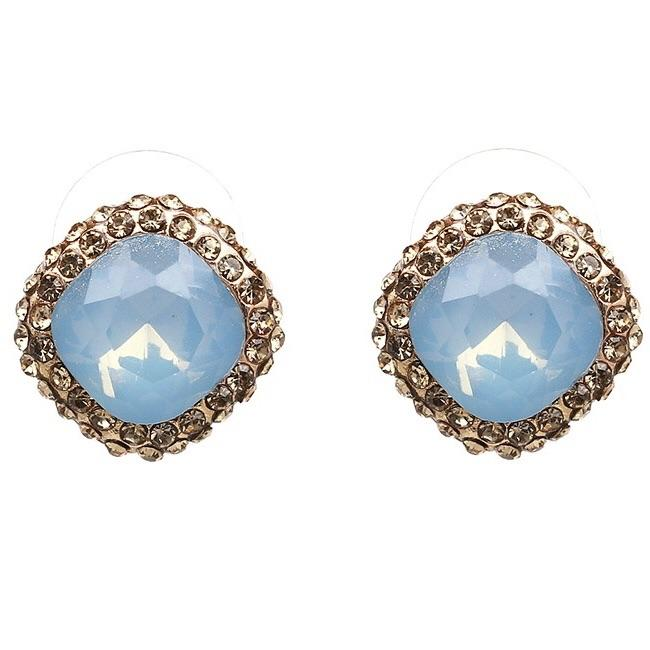 Crown Jewel Earrings: Periwinkle - Bella and Bloom Boutique
