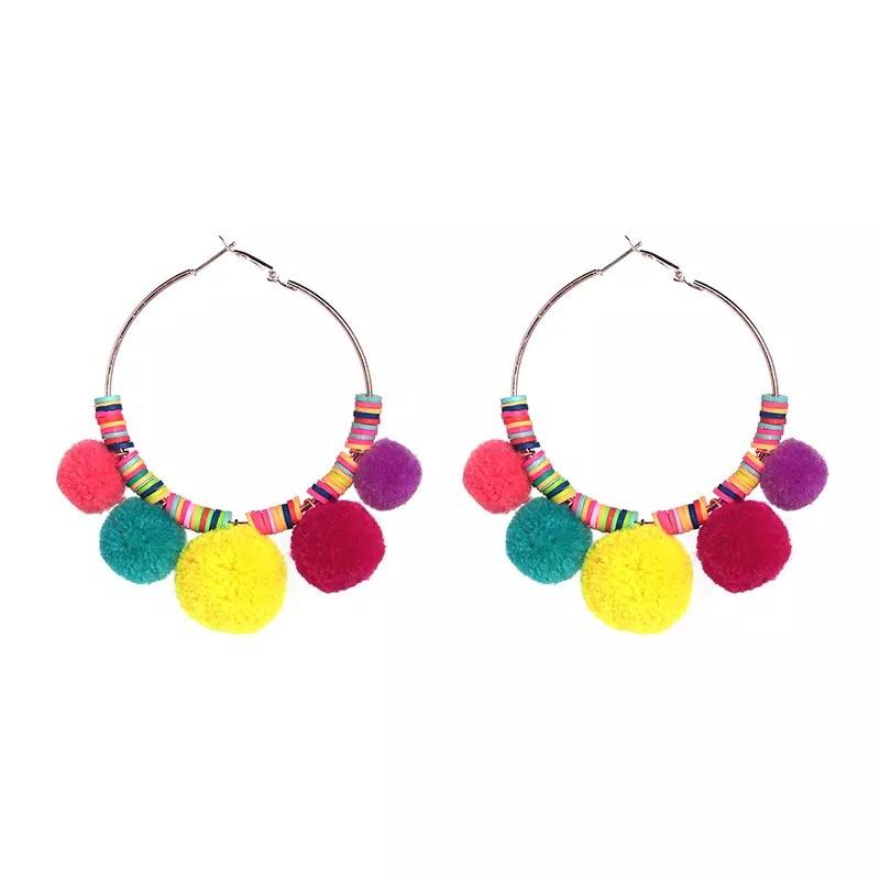 Aruba Earrings: Multi - Bella and Bloom Boutique