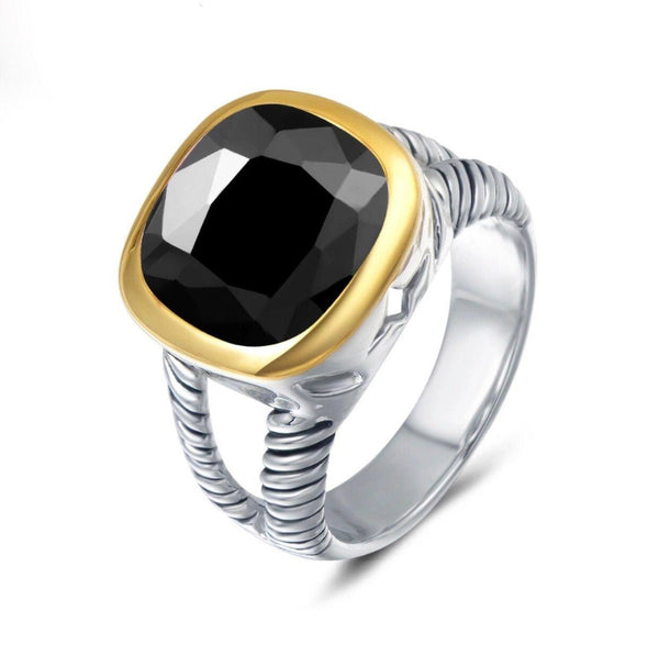 RESTOCK: Bella Ring: Onyx - Bella and Bloom Boutique