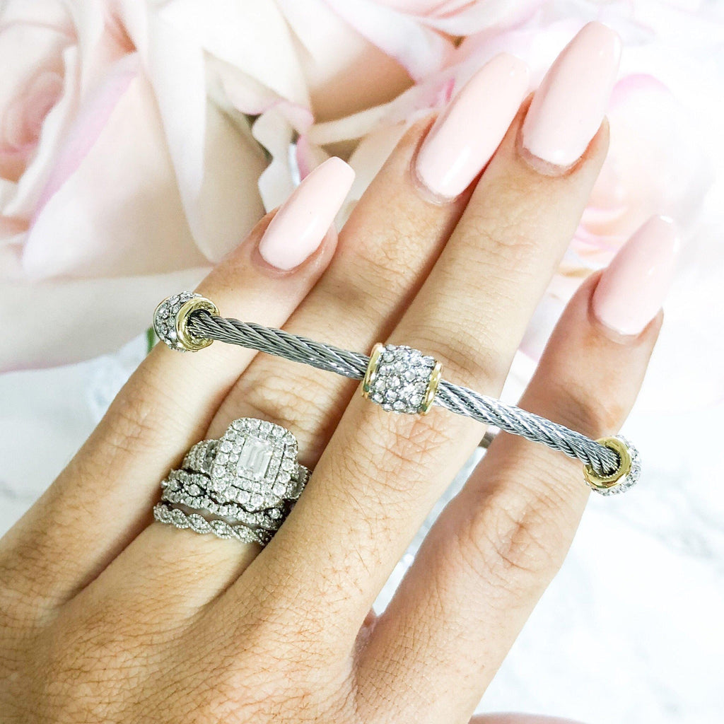 RESTOCK: Meant to Be Bangle: Silver/Gold - Bella and Bloom Boutique