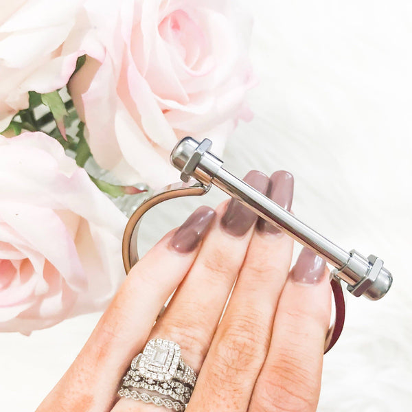 Here's To You Bangle: Silver - Bella and Bloom Boutique