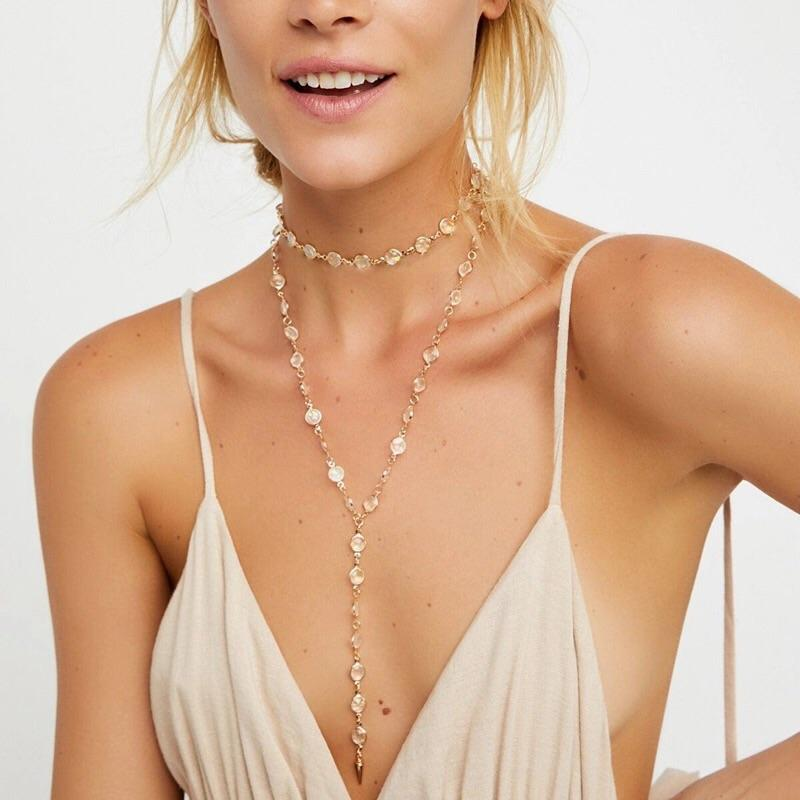 RESTOCK: Champagne Toasts Necklace: Gold - Bella and Bloom Boutique
