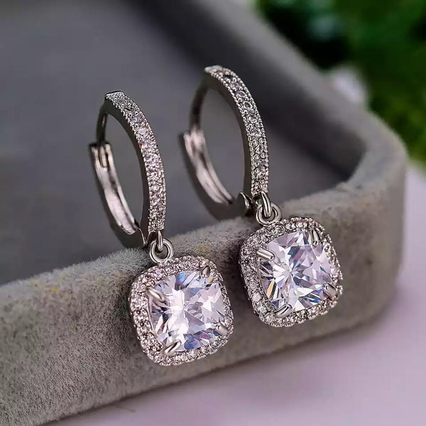 Belle of the Ball Huggie Hoop Earrings: Silver - Bella and Bloom Boutique