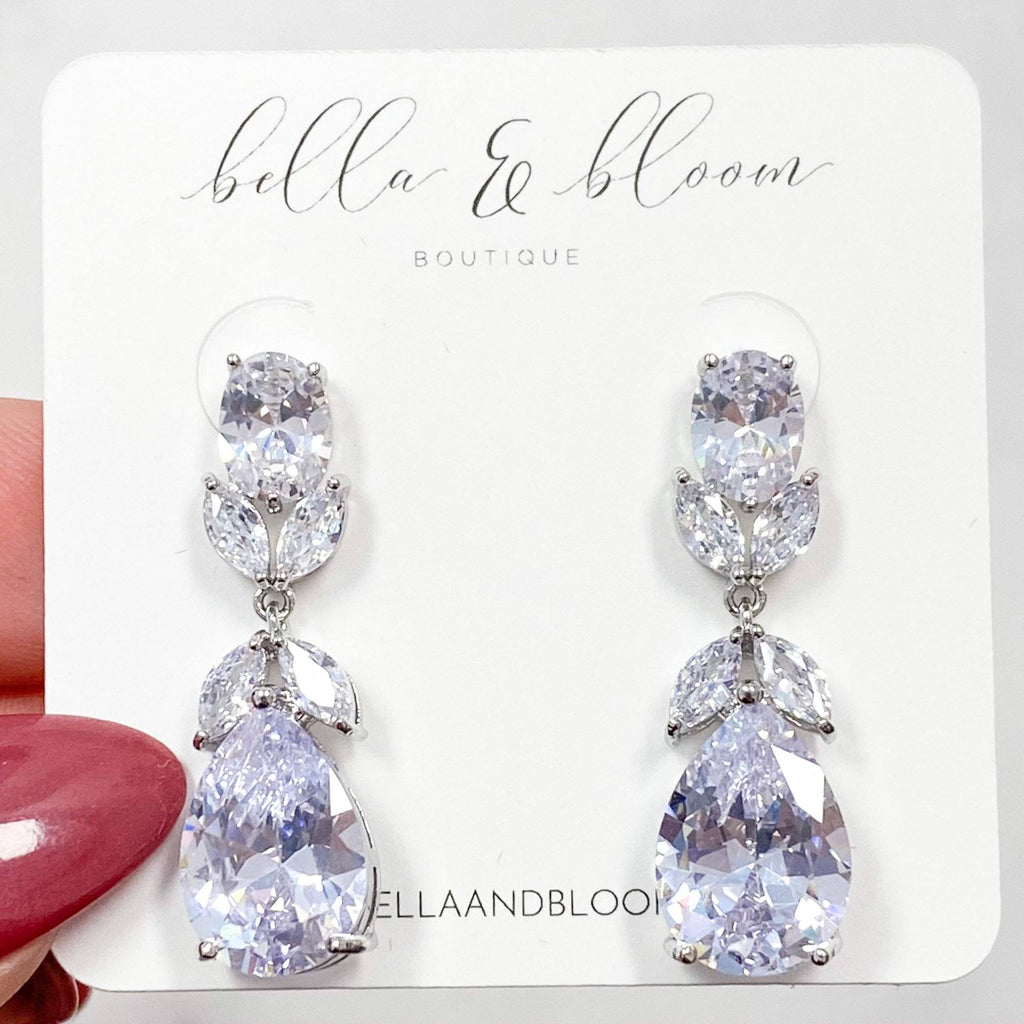 Down the Aisle Earrings: Silver - Bella and Bloom Boutique