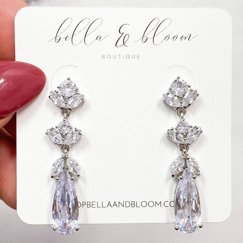 Mine All Mine Earrings: Silver - Bella and Bloom Boutique