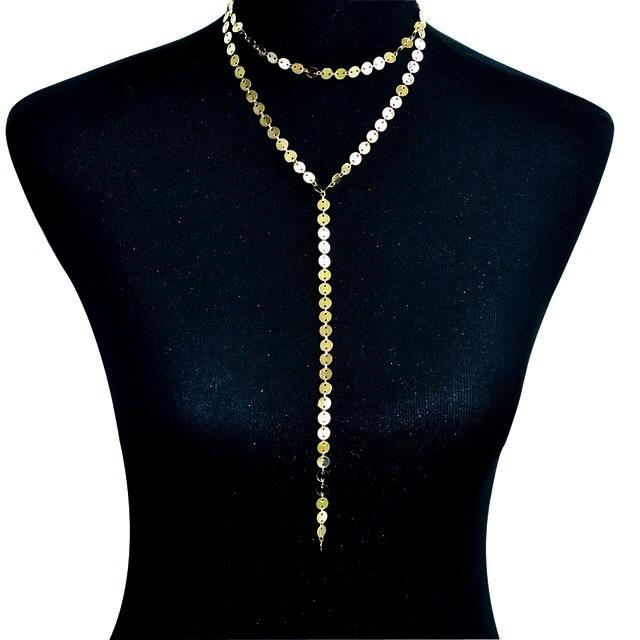 RESTOCK: Dripping in Gold Necklace: Gold - Bella and Bloom Boutique