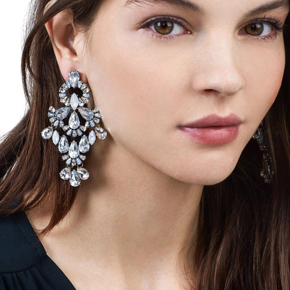 Chandelier Earrings: Crystal - Bella and Bloom Boutique