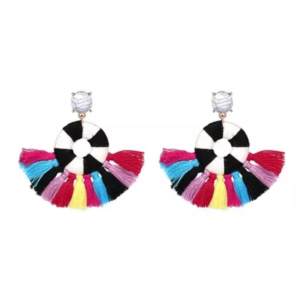 Pin Wheel Earrings: Multi - Bella and Bloom Boutique