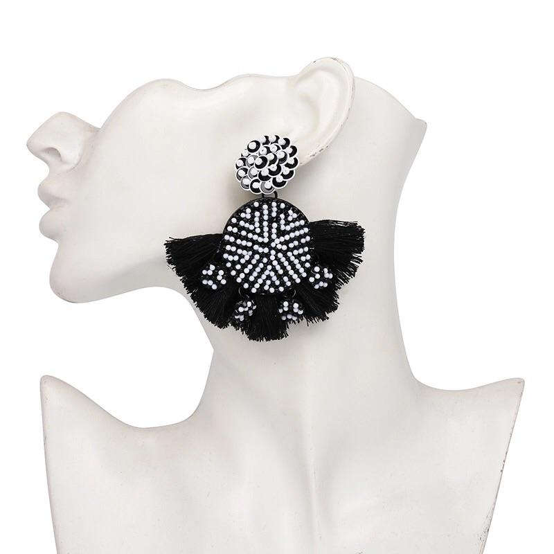 So it Goes Earrings: Black/White - Bella and Bloom Boutique