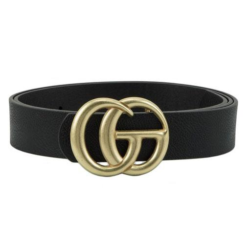 RESTOCK: Label Lover Belt: Black/Antique Gold - Bella and Bloom Boutique