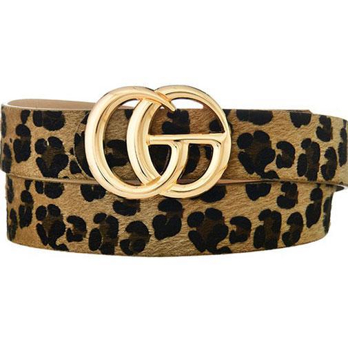 Label Lover Belt: Tan Leopard - Bella and Bloom Boutique