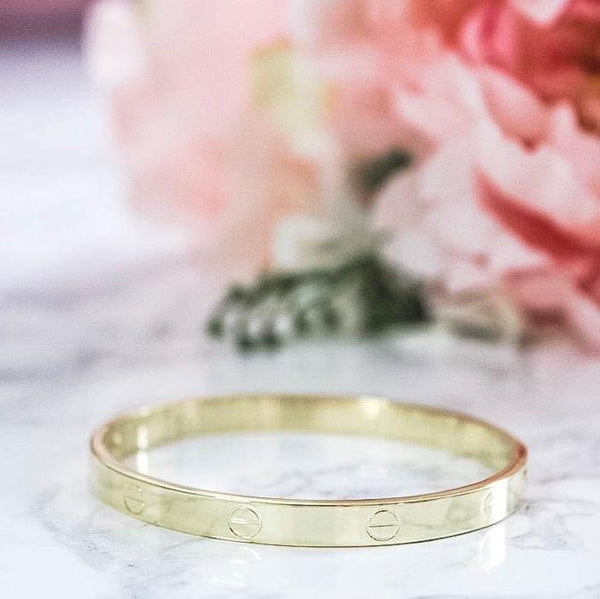 RESTOCK: Love Bangle: Gold