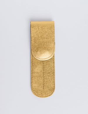 Duo Magnet Button Pouch - Metallic Gold