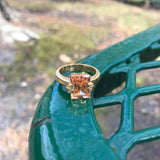Luminous Citrine Colored Ring, Size 7