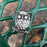 Owl Rhinestone Adjustable Ring