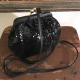 Vintage Whiting & David Black Mesh Evening Purse