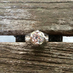 Gorgeous Rhinestone Dome Ring, Size 5