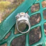 Gorgeous Dome Alexandrite & Citrine Ring, Size 6