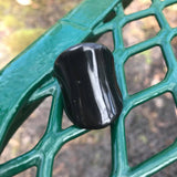 70's Style Vintage Lucite Plastic Resin Ring, Size 9