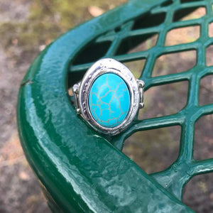 Boho Chic Turquoise Adjustable Ring