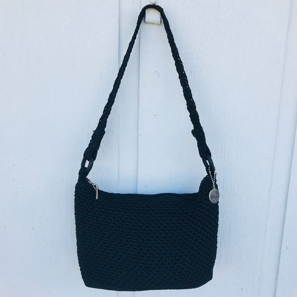 The Sak Black Knit Shoulder Bag