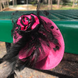 "4"" Pink Hot Mini Fascinator"