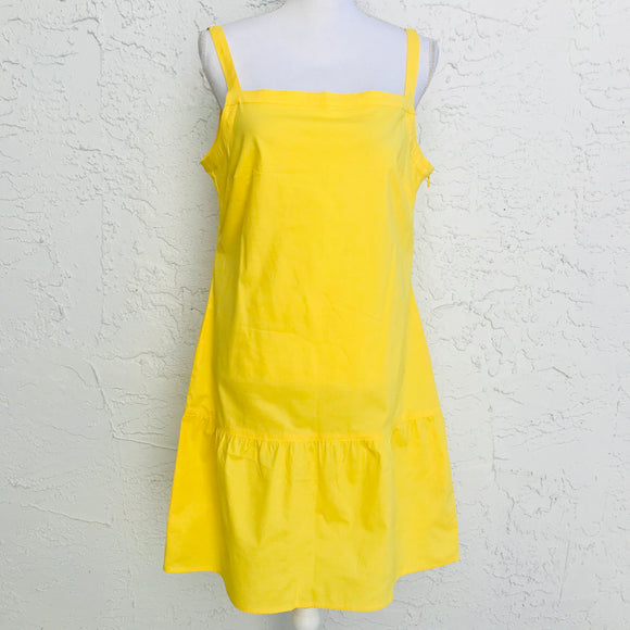 Tex By Max Azria Yellow Cotton Shift Sundress, Size Medium