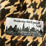 "Manhattan Hat Company Houndstooth Cashmere Feel Scarf, 11"" x 63"""