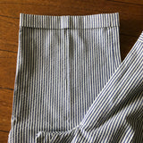 Men's Line Print 100% Cotton Dress Pants, Size 35