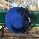 4 Royal Blue Mini Fascinator