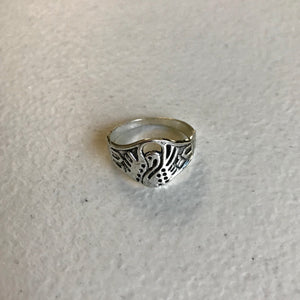Boho Chic Swan Ring,  Size 8