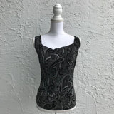 Suzie In The City Paisley Print Top, Size Small