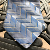 "Croft & Barrow Men's Geometric Blue 3.75"" Silk Tie"