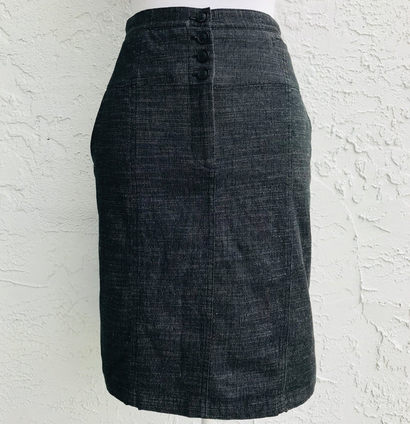 AGB Charcoal Dress Pencil Skirt, Size 12