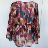 Charlotte Russe Flutter Sleeve Blouse, Size Small