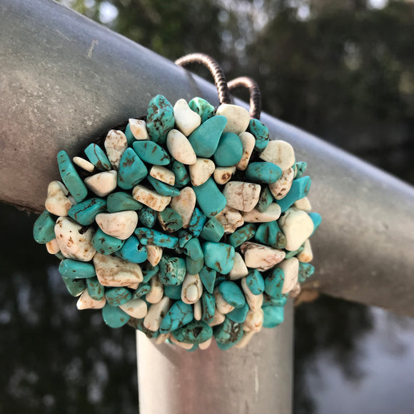 Artisan Crafted Natural Turquoise Stone Bracelet