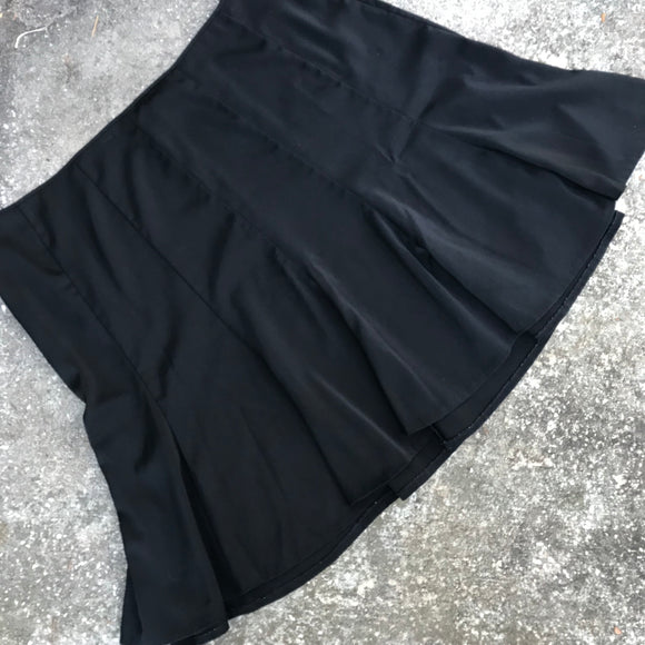 LANE BRYANT Women's Plus Size 28 Black Flair Midi Skirt
