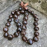 "Hawaii Kukui Nut Lei Brown 36"" Necklace"