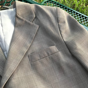 VAN HEUSEN Men's Taupe Blazer Jacket, Size 20 Regular