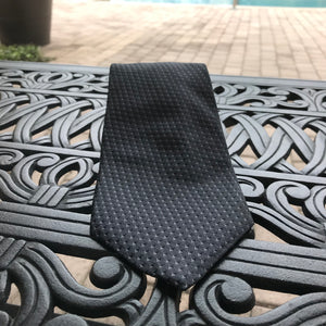 "DKNY 3.75"" Men's Dark Gray 100% Silk Tie"