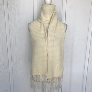"Ivory Knit Winter Scarf, 78"" x 8"""