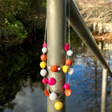 Multi Layer Beaded Statement Necklace