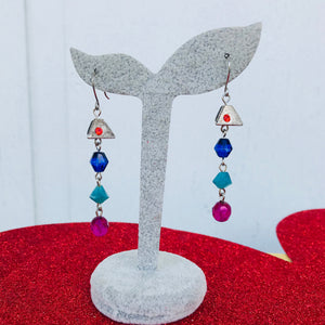 Boho Chic Beaded Drop Earrings