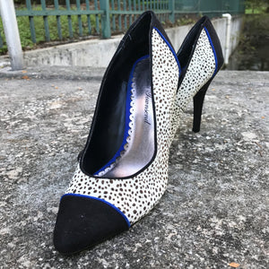 LULU TOWNSEND Leather Animal Print Heels, Size 8 M