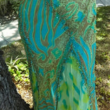 Alberto Makali Silk Formal Gown With Shawl, Size 6